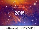 cosmic astrological new year... | Shutterstock .eps vector #739729048