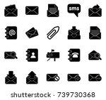mail icons | Shutterstock .eps vector #739730368