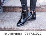 beautiful women's boots | Shutterstock . vector #739731022