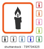 candle icon. flat grey...