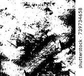 grunge black white. monochrome... | Shutterstock .eps vector #739734658