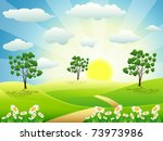 summer day | Shutterstock .eps vector #73973986