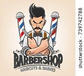 barber shop illustration | Shutterstock .eps vector #739742788