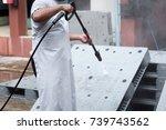 cleanliness of plastic pallet... | Shutterstock . vector #739743562