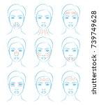 vector illustration  set of...   Shutterstock .eps vector #739749628