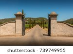property  winery  entrance gate ... | Shutterstock . vector #739749955