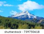 travel ski resort background...   Shutterstock . vector #739750618
