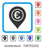 euro pointer icon. flat grey...