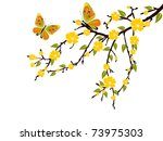 yellow blossom   vector