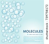 abstract gloss blue molecules...   Shutterstock .eps vector #739758172