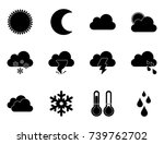 weather icons | Shutterstock .eps vector #739762702