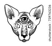 tattoo design  artwork for... | Shutterstock .eps vector #739763236