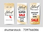 set of black friday sale flyers.... | Shutterstock .eps vector #739766086