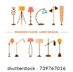 set of colorful cartoon floor... | Shutterstock .eps vector #739767016