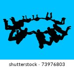 group of athletes paratroopers... | Shutterstock .eps vector #73976803