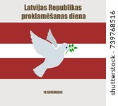 latvia independence day... | Shutterstock .eps vector #739768516