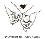 couple in love hold hands... | Shutterstock .eps vector #739776088