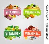 vitamin banner. vector... | Shutterstock .eps vector #739781992