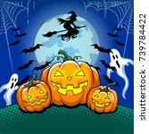 Halloween Theme Pop Art Retro...