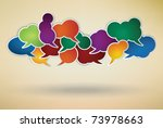many different colored speech... | Shutterstock .eps vector #73978663