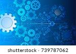 cyber security  vector... | Shutterstock .eps vector #739787062