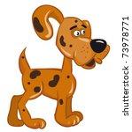 fun dog. vector image | Shutterstock .eps vector #73978771