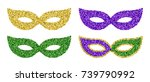 set of four colorful glitter... | Shutterstock .eps vector #739790992