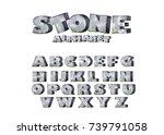 cartoon mossy stones  rock font....