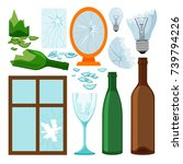 glass garbage collection  empty ... | Shutterstock .eps vector #739794226