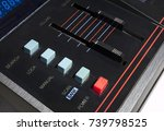 power and other buttons on an... | Shutterstock . vector #739798525