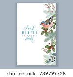 vector vintage border with... | Shutterstock .eps vector #739799728