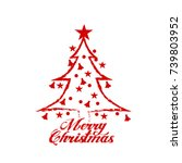 merry christmas vector text... | Shutterstock .eps vector #739803952