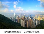 hong kong city skyline ... | Shutterstock . vector #739804426