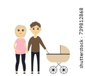 young family | Shutterstock .eps vector #739812868