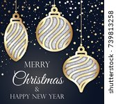 merry christmas and happy new...   Shutterstock .eps vector #739813258
