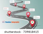 business road map timeline... | Shutterstock .eps vector #739818415