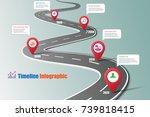 business road map timeline... | Shutterstock .eps vector #739818415