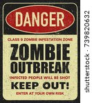 halloween warning sign danger... | Shutterstock .eps vector #739820632
