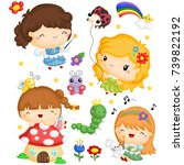 fairy vector set | Shutterstock .eps vector #739822192