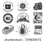 blockchain  bitcoin  crypto... | Shutterstock .eps vector #739830472