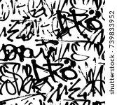 vector graffiti seamless...   Shutterstock .eps vector #739833952