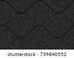 asphalt roof shingles  seamless ... | Shutterstock .eps vector #739840552