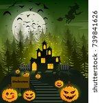 happy halloween poster   Shutterstock .eps vector #739841626