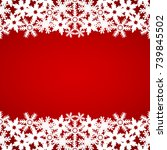 christmas red background with... | Shutterstock . vector #739845502