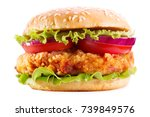 Chicken Burger With Vegetables...