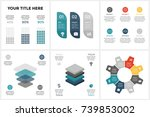 vector circle arrows... | Shutterstock .eps vector #739853002