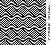 vector geometric pattern.... | Shutterstock .eps vector #739854202