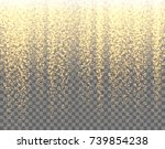 gold sparkles on the... | Shutterstock .eps vector #739854238