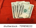 photograph of dollar notes in... | Shutterstock . vector #739858222