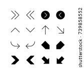 miscellaneous arrows... | Shutterstock .eps vector #739858552